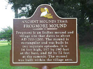 LA.Ancient Mounds Trail historical marker sign at Frogmore, Louisiana, in Concordia Parish